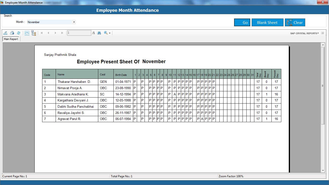 Attendance System Software Project - Imagez co